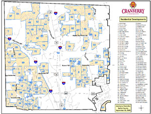 Location Cranberry Township Official Website - Pittsburgh pa on us map