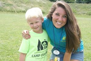Camp Cranberry camper and counselor