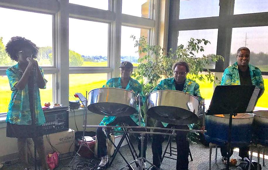 steel drum band at golf course