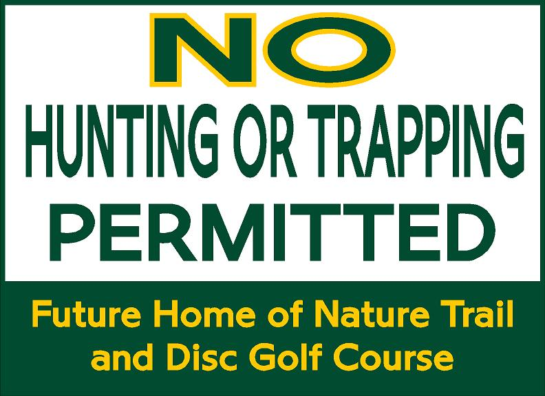 No Hunting sign