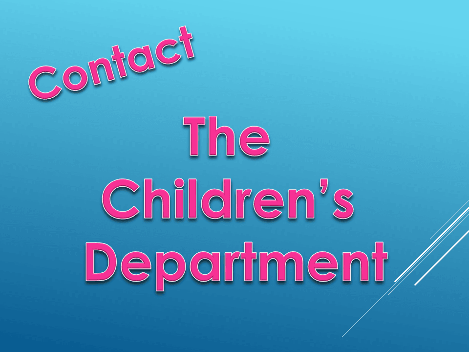 Contact Childrens Dept flyer