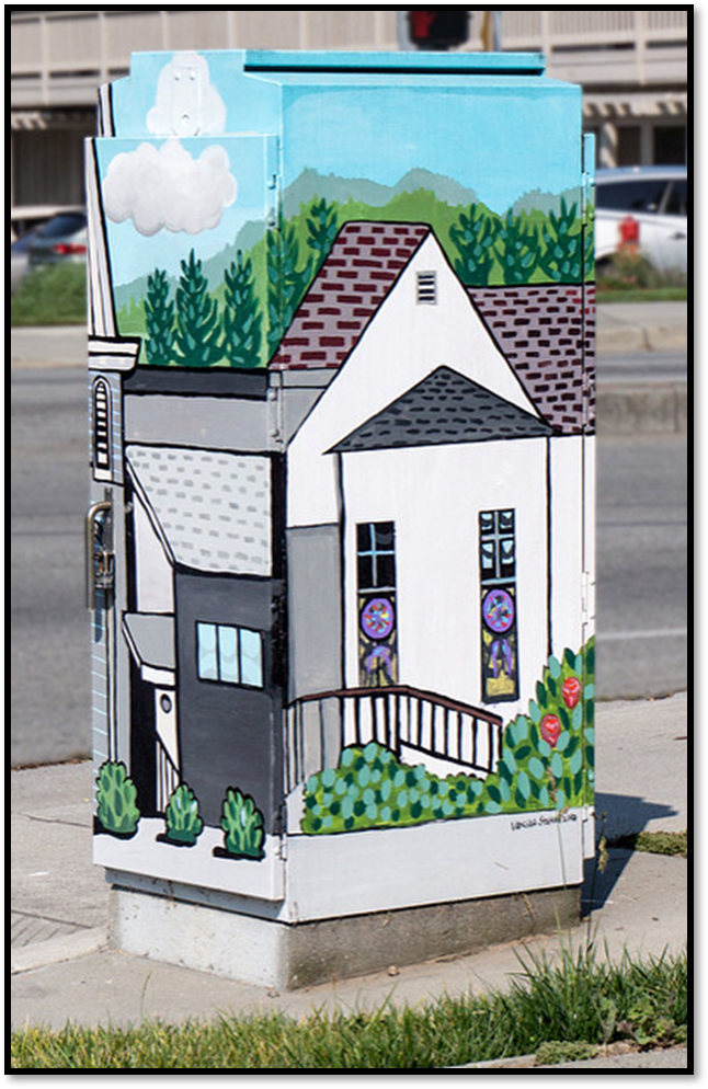 traffic box with artwork