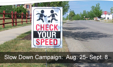 Cranberry Township Neighborhood Slow Down Campaign