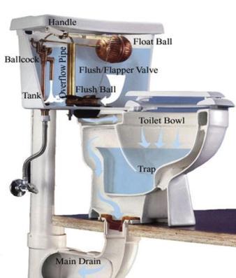 alfa img showing leaking toilet