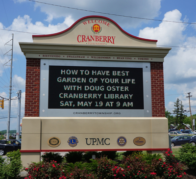 Community Information Board in Cranberry Twp
