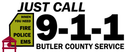 Just Call 9-1-1 for Butler County Service