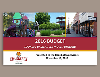 2016 Budget Presentation- Looking Back